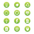 Sustainability icons abstract on a white background Stock Photography