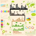 Sustainability infographic illustration of tree in Stock Photos