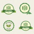 Sustainability labels abstract on a white background Royalty Free Stock Photos