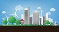 Sustainable city Royalty Free Stock Photo