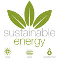 Sustainable energy an image of a symbols Stock Photos