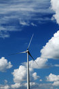 Sustainable energy producing wind powered Royalty Free Stock Images