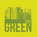 Sustainable illustration of green ecological city vector illustration Royalty Free Stock Images