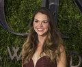 Sutton foster at tony awards double winning actress wearing an ombre tiered dress by naem khan arrives on the red carpet for the Stock Photos