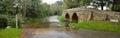 Sutton splash bedfordshire and packhorse bridge Royalty Free Stock Photo