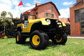 Suv mini car jeep on grass Royalty Free Stock Photos