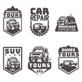 Suv 4x4 off-road travel tour club Icon logo template vector