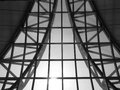 Suvarnabhumi airport in detail black and white Stock Images