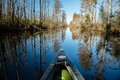 Suwanee canal canoeing the okefenokee national wildlife refuge Stock Photos