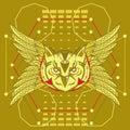 Owl sacred geometry