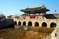 Suwoncheon, Northern Gate in Hwaseong Fortress Royalty Free Stock Photos