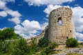 Suyren fortress defensive wall with tower crimea ukraine Royalty Free Stock Image