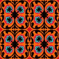 Suzani pattern with Uzbek and Kazakh motifs Royalty Free Stock Photography