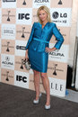 Suzanne sena los angeles feb as brooke alvarez arrives at the film independent spirit awards at beach on february in santa monica Royalty Free Stock Photography