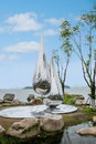 Suzhou jinji lake city sculpture water droplets urban urban standing in the public places in the it is in the high rise Stock Photo
