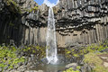 Svartifoss waterfall (Iceland) Royalty Free Stock Photography