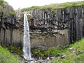 Svartifoss waterfall skaftafell national park iceland in Royalty Free Stock Photos