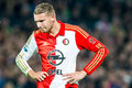 Sven van beek of feyenoord rotterdam netherlands october th at the de kuip stadium during the knvb beker match against ajax Royalty Free Stock Images