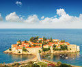 Sveti Stefan island Stock Images