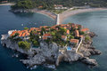 Sveti stefan island resort montenegro Stock Photos
