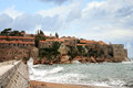 Sveti stefan in montenegro the historic island of the former yugoslavia Stock Image