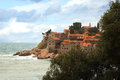 Sveti stefan in montenegro the historic island of the former yugoslavia Stock Images