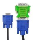 SVGA to DVI adapter Stock Photo
