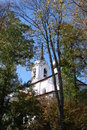 Sviatohirsk monastery of the holy assumption in pushkin mountains pushkin s grave Stock Photography