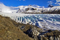 Svinafellsjokull Glacier, Skaftafell, Iceland. Royalty Free Stock Photo