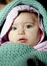 Swaddled Baby Girl Stock Images