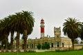 Swakopmund lighthouse namibia famous in city on the atlantic coast of northwestern km miles west of windhoek s Stock Photography