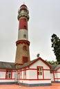 Swakopmund lighthouse namibia famous in city on the atlantic coast of northwestern km miles west of windhoek s Royalty Free Stock Image