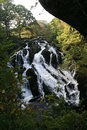 Swallow Falls, waterfall in Snowdonia, North Wales Royalty Free Stock Photo