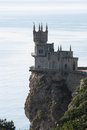 The swallow s nest castle a located on crimean Stock Photos