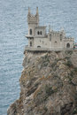 The swallow s nest castle a located on crimean Stock Images