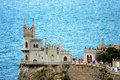 The swallow s nest castle a located on crimean Royalty Free Stock Photos