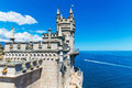 Swallow s nest castle in yalta crimea ukraine scenic summer view of Royalty Free Stock Image