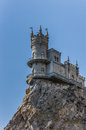 Swallow s nest on top of a cliff near yalta ukraine Stock Photos