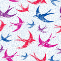 Swallows seamless an abstract pattern with flying Stock Photos