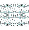 Swan family pattern Royalty Free Stock Photography