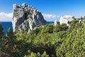 Swan Wing Rock in Simeiz, Crimea Stock Images