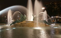 Swann memorial fountain in downtown philadelphia at night Stock Image