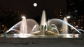 Swann memorial fountain in downtown philadelphia at night Royalty Free Stock Image