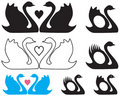 Swans In Love [VECTOR] Royalty Free Stock Photos