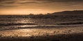 Swansea bay and Mumbles lighthouse Royalty Free Stock Photo