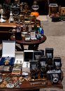 stock image of  Swap meet with vintage items, old cameras, jewelry and more in the center of Athens, Greece