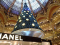 Swarovski christmas tree paris france december at the famous galeries lafayette department store on the boulevard haussmann the Stock Photos