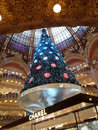 Swarovski christmas tree paris france december at the famous galeries lafayette department store on the boulevard haussmann the Royalty Free Stock Images