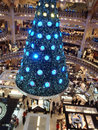 Swarovski christmas tree paris france december at the famous galeries lafayette department store on the boulevard haussmann the Royalty Free Stock Photography