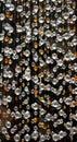 Swarovski crystal beaded curtain, blurred foreground Royalty Free Stock Photo